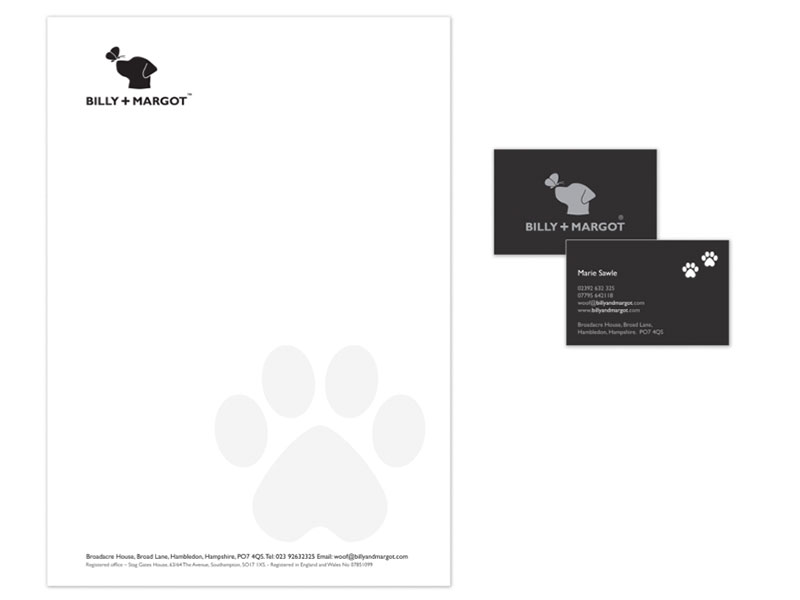 Billy + Margot Letterhead and Business Cards