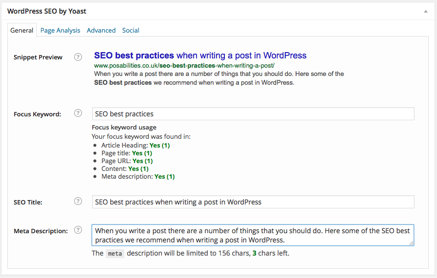 SEO Best Practices - WordPress SEO by Yoast
