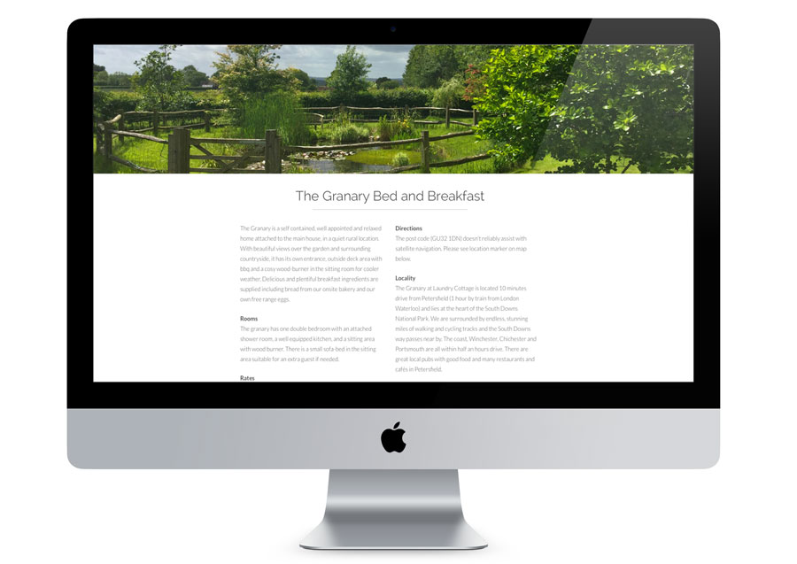 The Granary Bed And Breakfast Website